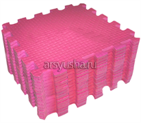 "Коврик-пазл BABYPUZZ (9 плит 33x33x2см, ~1кв.м./уп) ""Розовый"""