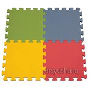 """Коврик-пазл BABYPUZZ (36 плит 33x33x1см, ~4кв.м./уп) """"Разноцветный пол"""""""