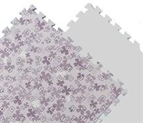 Мягкий пол 60*60*1 см Фиолетовые буквы+цифры