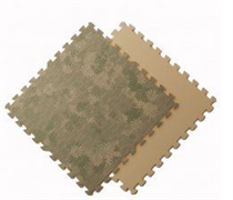 Мягкое напольное покрытие 60*60*1 см Рисовая соломка+Цветы