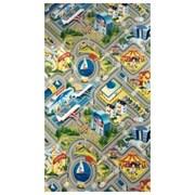 """Детский игровой развивающий складной коврик с дорогами Юрим в чехле """"Город"""" 200х140х1 см"""