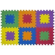 """Коврик-пазл Funkids 12"""" без рисунка """"Мозаика-12-10"""", 6 плит, 30х30х1 см"""