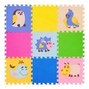 """Коврик-пазл FunKids 12"""" с рисунками """"Окружающий Мир. Дикие животные"""", 9 плит, 30х30х1,5 см"""