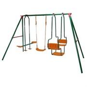 Многофункциональный детский комплекс с тремя качелями DS DFC