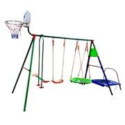 Детский уличный комплекс с батутом и баскетболом DS DFC