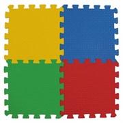 """Коврик-пазл BABYPUZZ (36 плит 33x33x2см, ~4кв.м./уп) """"Двухсторонний разноцветный пол"""""""