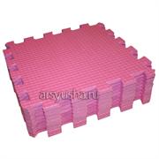 "Коврик-пазл BABYPUZZ (9 плит 33x33x1см, ~1кв.м./уп) ""Розовый"""
