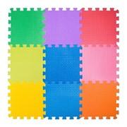 """Коврик-пазл BABYPUZZ (9 плит 33x33x2см, ~1кв.м./уп) """"Разноцветная полянка"""""""