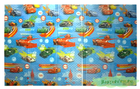 "Детский развивающий игровой складной коврик ЮРИМ (односторонний) ""Тачки"" 200х140х0,8см"