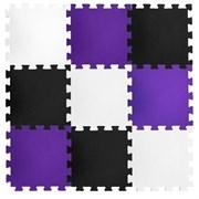 """Коврик-пазл BABYPUZZ (24 плиты 50x50x2см, 6кв.м./уп) """"Черно-белый с фиолетовым"""""""