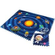 "Детский развивающий коврик-пазл Mambobaby ""Солнечная система"" (двустосторонний) 180х135х2 см (12 плит 45*45*2см) ТМ."