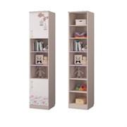 Шкаф для книг с 2-мя дверками Адель, 451х446х2136, Ясень светлый/Белый