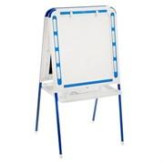 Мольберт двухсторонний с зажимами для бумаги, цвет бело-синий