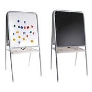 Мольберт двухсторонний с пеналом, цвет серебристый. В комплект входят буквы, цифры и знаки,  105,8х51х7 см