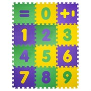 "Коврик-пазл BABYPUZZ (12 плит 33x33x1см, ~1,3кв.м./уп) ""Математика"""