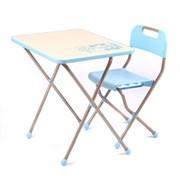 """Комплект детской мебели с рисунком в стиле """"Ретро"""", цвет голубой"""