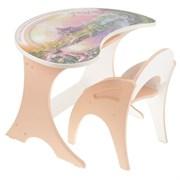 """Набор мебели """"Волшебный остров"""": столик, стульчик. Цвет персиковый"""