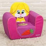Мягкая игрушка «Кресло Зайчик Хрум-Хрум», цвета МИКС