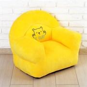 Кресло «Мишка» мягкая игрушка, цвет жёлтый