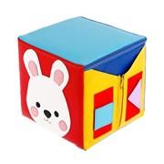 Кубик дидактический «Зайка», 20 × 20 см