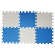 "Коврик-пазл BABYPUZZ (6 плит 33x33x1см, ~0,65кв.м./уп) ""Бело-голубой"""