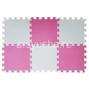 "Коврик-пазл BABYPUZZ (6 плит 33x33x1см, ~0,65кв.м./уп) ""Бело-розовый"""