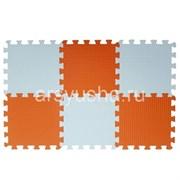 "Коврик-пазл BABYPUZZ (6 плит 33x33x1см, ~0,65кв.м./уп) ""Бело-оранжевый"""