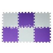 """Коврик-пазл BABYPUZZ (6 плит 33x33x1см, ~0,65кв.м./уп) """"Бело-фиолетовый"""""""