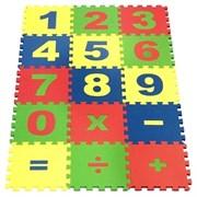"""Коврик-пазл Экополимеры (15 плит 25x25x0,9см, ~1кв.м./уп) """"Математика"""""""