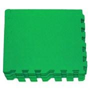 """Коврик-пазл Экополимеры (9 плит 30x30x0,9см, 0,81кв.м./уп) """"Зеленый"""""""