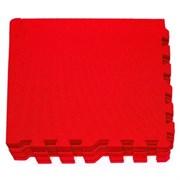 """Коврик-пазл Экополимеры (9 плит 30x30x0,9см, 0,81кв.м./уп) """"Красный"""""""