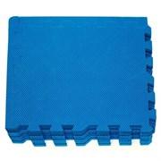 "Коврик-пазл Экополимеры (9 плит 30x30x0,9см, 0,81кв.м./уп) ""Синий"""