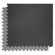 """Коврик-пазл Экополимеры (4 плиты 60x60x0,9см, 1,44кв.м./уп) """"Черно-серый"""""""