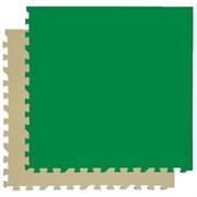 "Коврик-пазл Экополимеры (4 плиты 60x60x0,9см, 1,44кв.м./уп) ""Зелено-бежевый"""