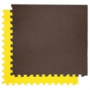 """Коврик-пазл Экополимеры (4 плиты 60x60x0,9см, 1,44кв.м./уп) """"Желто-коричневый"""""""