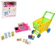 Игровой набор с тележкой, розовой кассой и аксессуарами, световые и звуковые эффекты
