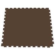 Модульное покрытие для фитнеса, аэробики, йоги, 100х100х1 см, коричневый