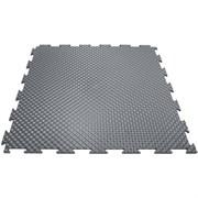Твердое напольное покрытие для тренажерных залов, 37,5х37,5х0,6/0,8/1 см, темно-серый