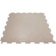 Твердое напольное покрытие для тренажерных залов, 37,5х37,5х0,6/0,8/1 см, бежевый
