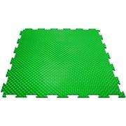 Твердое напольное покрытие для тренажерных залов, 37,5х37,5х0,6/0,8/1 см, зеленый