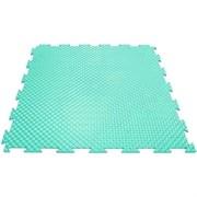 Твердое напольное покрытие для тренажерных залов, 37,5х37,5х0,6/0,8/1 см, бирюзовый