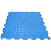 Твердое напольное покрытие для тренажерных залов, 37,5х37,5х0,6/0,8/1 см, синий