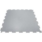 Эластичное напольное покрытие для тренажерных залов, 37,5х37,5х0,8/1/1,4 см, светло-серый