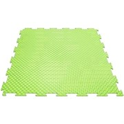 Эластичное напольное покрытие для тренажерных залов, 37,5х37,5х0,8/1/1,4 см, салатовый