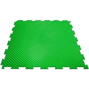Эластичное напольное покрытие для тренажерных залов, 37,5х37,5х0,8/1/1,4 см, зеленый
