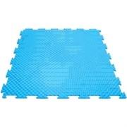 Эластичное напольное покрытие для тренажерных залов, 37,5х37,5х0,8/1/1,4 см, голубой