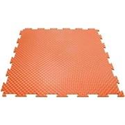 Эластичное напольное покрытие для тренажерных залов, 37,5х37,5х0,8/1/1,4 см, оранжевый