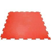 Эластичное напольное покрытие для тренажерных залов, 37,5х37,5х0,8/1/1,4 см, красный