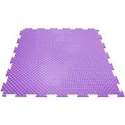 Эластичное напольное покрытие для тренажерных залов, 37,5х37,5х0,8/1/1,4 см, фиолетовый