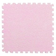 Коврик-пазл LUX с ворсом, 30х30х0,7 см, розовый